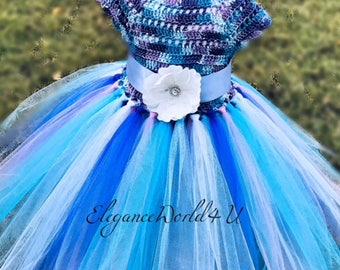 Moon Knight Tutu dress, Mix color Tutu Dress, Tutu dress
