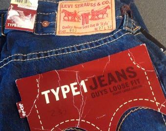 Brand New &  Rare Levis 902: Type 1 Jeans Standard Denim (Indigo) Colour 100% cotton.  27(W) 32 (L)