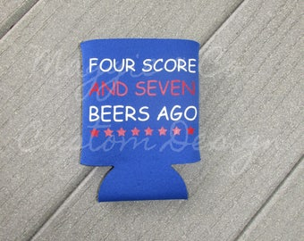 Fourth of July Can cooler