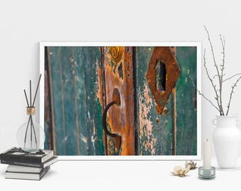 Old Door Photography Print, Wall Art, Color Print, Printable Art, Instant Digital Download Print