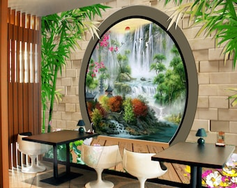 3D Secret Garden 10 Views Wallpaper Mural Wall Print Decal Wall Deco Indoor Wall  Murals Wall