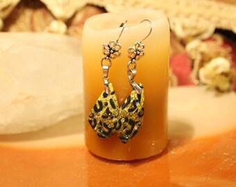 African Print kite earrings