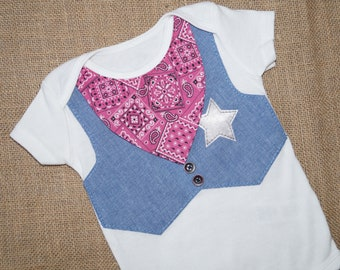 Baby Cowgirl Outfit Bodysuit - Western Girl Outfit