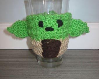 Crocheted Yoda Cup Cosy