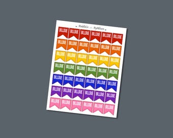 Bill Due flags - Planner Stickers