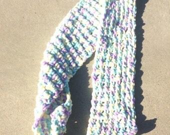 Chunky Tunisian Crochet Scarf