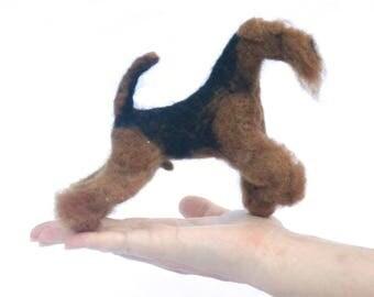 Fleece dog (Neddle Felted Dogs)