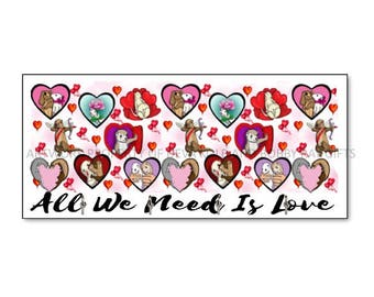 All We Need Is Love Ferrets Keyhanger