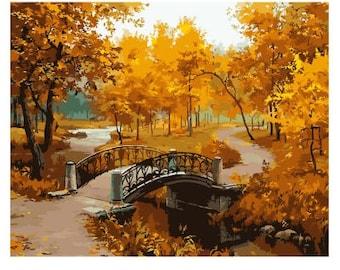 Autumn Landscape DIY Oil Painting