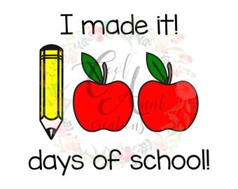 100 Days of School / SVG / DXF / PNG / Digital Download