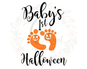 Baby's 1st Halloween / SVG / DXF / PNG / Digital Download
