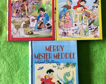 Collection of three Enid Blyton books about Mr Meddle's