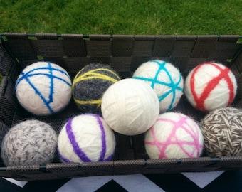 Line drying white ball