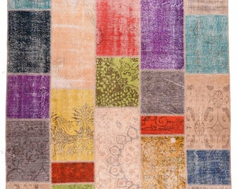 Colorful Patchworkd - oriental Patchwork - Quilt handmade