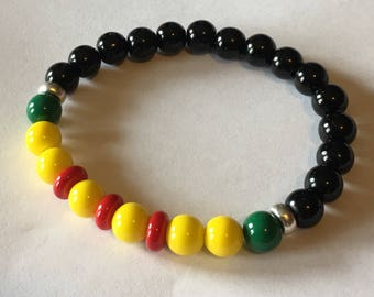 Vietnam War veteran / Vietnam Campaign Ribbon / Campaign inspired bead bracelet / Army Air Force Navy Marine Veteran Military