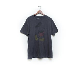 Official, Walt Disney, Mickey Mouse, Tshirt, faded, classic, Vintage, medium, Soft, paper Thin, rare, Disneyland, Walt Disney World