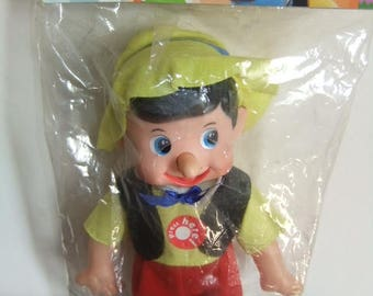 Vintage Pinocchio Doll with growing nose still in original shop wrapper possibly Pakkos Spain