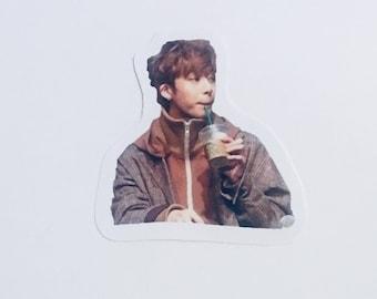 Monsta X Hyungwon Sipping Tea Sticker