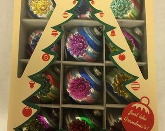 1940's Design Christmas Ornaments - Shiny Brite Glass - Christopher Radko