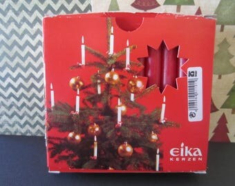 Vintage red Christmas candles eika unopened 20 sticks Made in Germany Quality candle