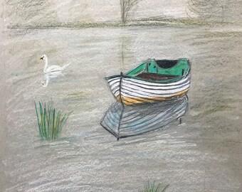Boat on a Still Lake