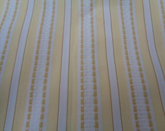 3 yards of a beautiful Yellow and White Strips     #27