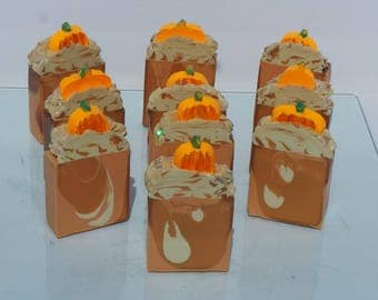 Pumpkin Cheesecake Artisan Cold Processed Soap