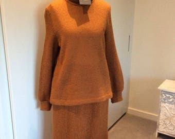 Vintage 1990s Christian Dior knit jumper and skirt