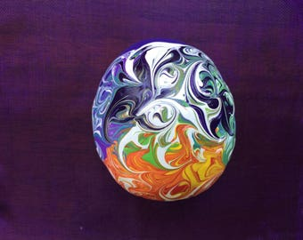 Hand Painted Stone, Hand Painted Rock, Meditation Stone, Chakra Colors, Rainbow Colors, Energy Art, One of a Kind