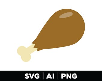 Turkey Leg - thanksgiving svg png ai, fall svg, vector turkey, Thanksgiving svg, fall svg, turkey leg graphic, thanksgiving clip art