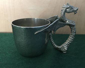 Pewter Dragon Cup