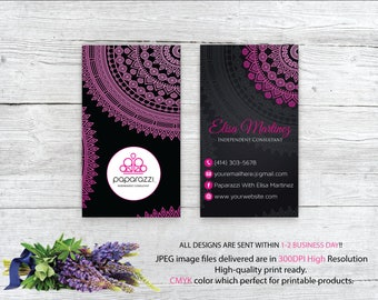 Paparazzi Business Card, Mandala Paparazzi Card, Custom Paparazzi Accessories Card, Fast Free Personalization, Printable Business Card PP09