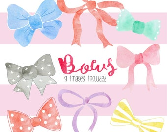 Bows Clip art Set - 9 Images Included