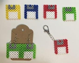 Floppy Disk Accessories |Perler beads|