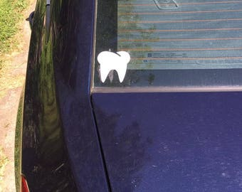 Vinyl tooth decals for the Dental Hygienist, Assistant, Denturist or Dentist in your life