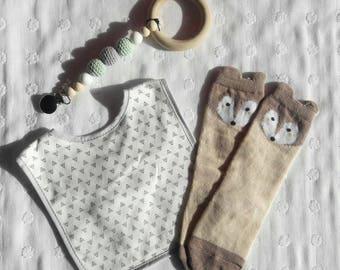 Baby fox knee high socks 0-1 yr