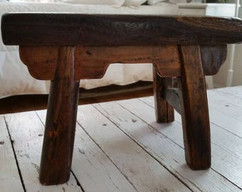 Vintage Small Wooden Bench/Stool