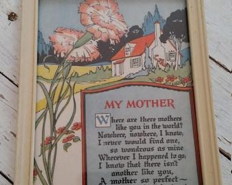 """Vintage """"My Mother"""" Framed Print"""