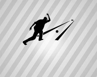 Bowling Silhouette Bowling Pin - Svg Dxf Eps Silhouette Rld RDWorks Pdf Png AI Files Digital Cut Vector File Svg File Cricut Laser Cut