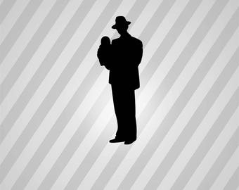 father Silhouette - Svg Dxf Eps Silhouette Rld RDWorks Pdf Png AI Files Digital Cut Vector File Svg File Cricut Laser Cut