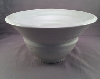 Large white fruit bowl