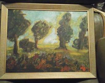 Vintage Oil Painting by listed artist Francis Focer Brown