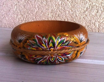 Painted wooden beaded by hand