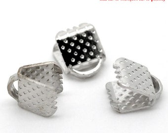 set of 30 6 x 8 mm silver plated setting