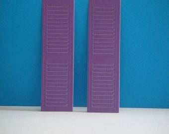 A pair of large purple pages for scrapbooking and card