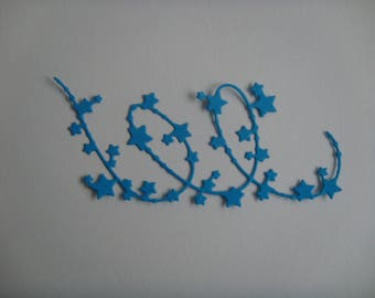 Cutout star Garland paper dishes for creation