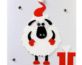Christmas card / new year's Eve sheep Nicolas