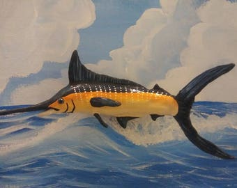 Polymer clay Marlin Fish