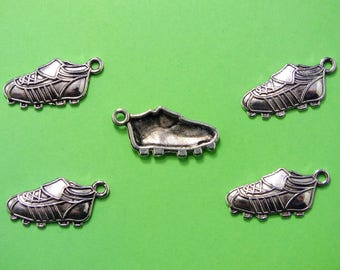 LOT 5 METALS CHARMS Silver: basketball 19mm