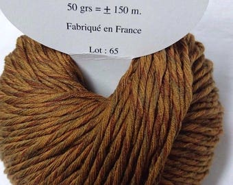 5 balls /couleur wool and cashmere camel Tweed / made in FRANCE
